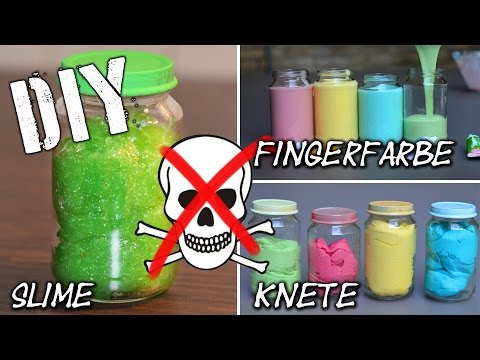 DIY Fingerfarbe – Slime – Knete super easy selbst gemacht | KIDS | dough | finger paint | mamiblock