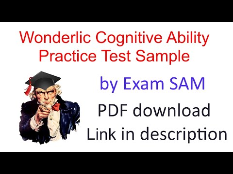 Wonderlic Cognitive Ability Practice Test: Free Sample Personnel Test with 50 Questions and Answers