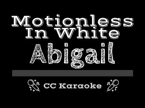 Motionless In White • Abigail (CC) [Karaoke Instrumental Lyrics]