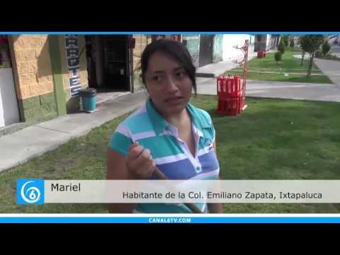 Se registra deterioro en el parque lineal de la calle Ejidal en la colonia Emiliano Zapata