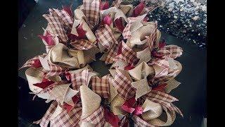 DIY Christmas Burlap Wreath || Vlogmas Day 18