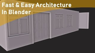 Fast and Easy Architecture Elements In Blender using Archipack