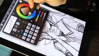 電容式觸控筆 P507 Accu Pen drawing on Apple iPad2