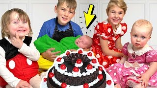Four Kids And Dad Are Preparing A Surprise For Alexs Birthday - Youtube