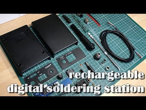 rechargeable battery powered soldering station