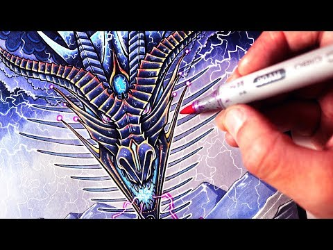 Let's Draw a LIGHTNING DRAGON - FANTASY ART FRIDAY