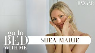 Shea Marie's Nighttime Skincare Routine | Go To Bed With Me | Harper's BAZAAR