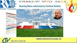 EN DIRECTO: Misa de inauguración de la Jornada Mundial de la Juventud de Cracovia