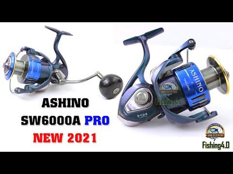 Máy câu ASHINO SW6000A PRO - Hot New 2021 - Tay Quay Núm Độ Carbon