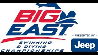 BIG EAST Swimming & Diving Championship - Friday Early Session
