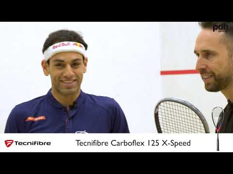 Review of the NEW Carboflex 125 X-Speed Squash Racket by Mohamed El Shorbagy at PDHSports.com