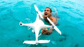 I CRASHED MY DRONE INTO THE OCEAN Epic Last Day On Our Camping Trip - Ep 61 Part 3