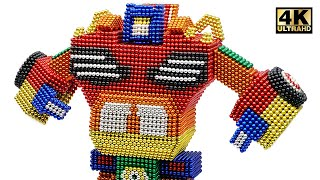 DIY - How To Make Transformer Robot Car From Magnetic Balls ( Satisfying ) | Magnet World 4K