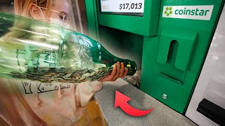 We Broke the Coinstar Machine! How Many Coins Do We Have?