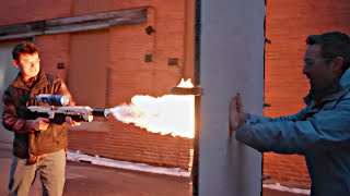 Flamethrower vs Aerogel