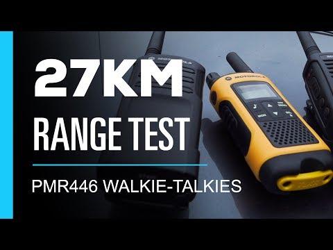 Walkie Talkie 27km Range Test - PMR446 0.5 Watt
