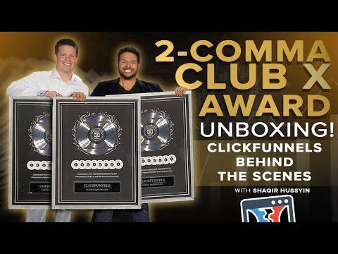 UNBOXING the ClickFunnels 8 Figure 2 Comma Club X Award ...