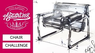 ✏️CHAIR CHALLENGE: How To Draw Marcel Breuers Wassily Chair. Episode #1