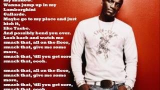 Akon Smack That (ft. Eminem) *Lyrics* [HD]