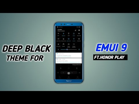 Fantastic FREE black Huawei/Honor theme for EMUI 9 (BEST on