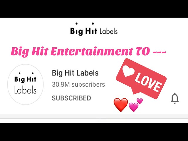 Big Hit Entertainment Change To Labels Imyourbabyboo