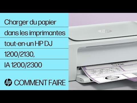 Chargement du papier dans les imprimantes tout-en-un des gammes HP DeskJet 1200 et 2130, Ink Advantage 1200 et 2300