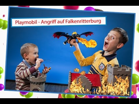 vlog: Angriff auf Falkenritterburg - Playmobil-Geschichten - Video für Kinder