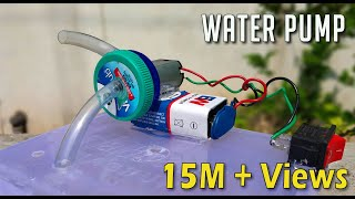How To Make a Water Pump From DC Motor at Home | DC Motor Ideas