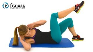 10 Minute Abs Workout -- At Home Abs and Obliques Exercises with No Equipment by FitnessBlender