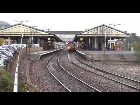 DB Cargo 66238 & 66160 pass Newton Abbot with railhead treat…