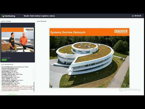 Webinarium Bauder - dachy zielone w zgodzie z naturą - zdjęcie