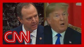 Adam Schiff uses Trump's words against him at impeachment trial