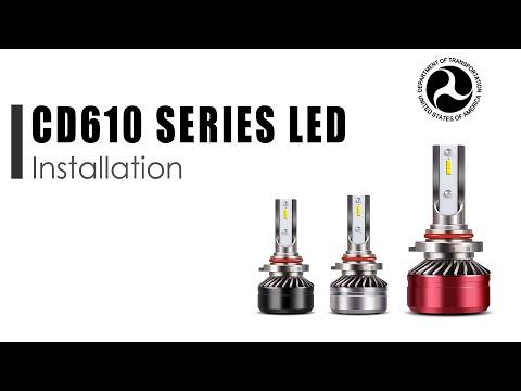 H4 LED Motorcycle Headlight Bulb HID White High/Lo Beam