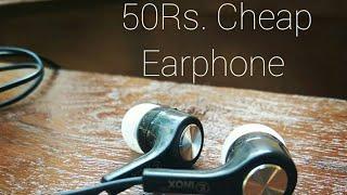 50 Rs. Cheap Earphone Vs Imported Sennheiser cx 180 Earphone Review In Hindi