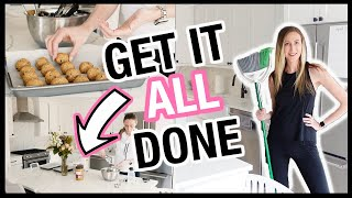 GET IT ALL DONE: food prep, room reveal + spring cleaning motivation 2021