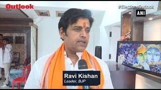 BJP's Gorakhpur Candidate Ravi Kishan Offers Prayers Ahead Of Vote Counting