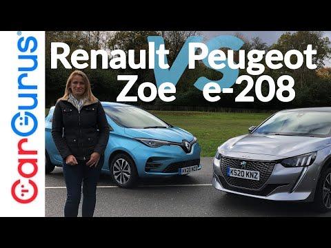 2020 Renault Zoe vs Peugeot e-208: Battle of the electric superminis!   CarGurus UK