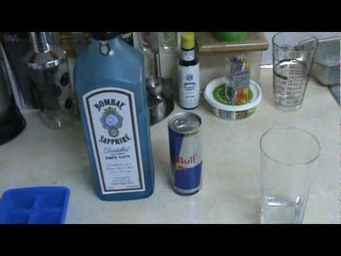 Video Gin and red bull cocktail