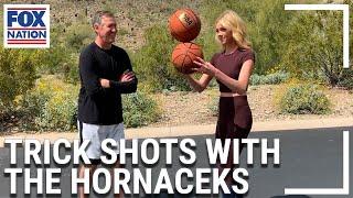 Abby Hornacek shows off her basketball skills
