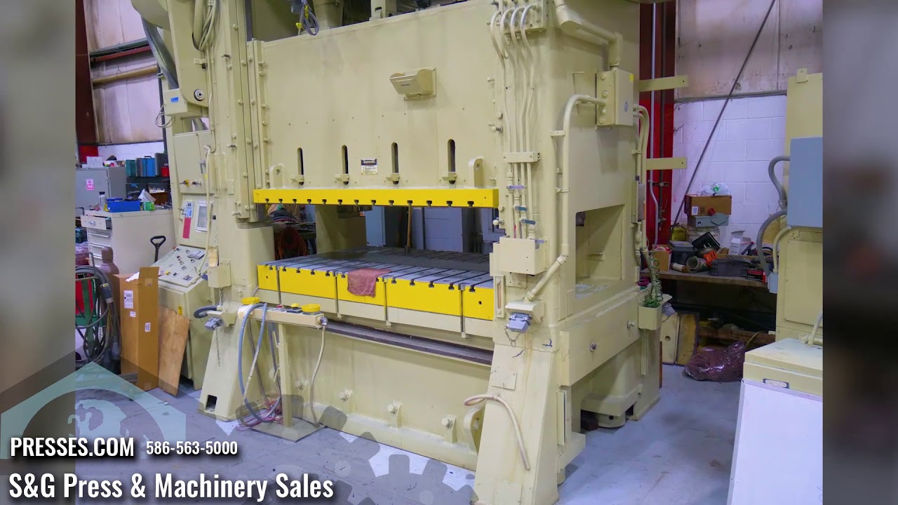 400 Ton Bliss SC2-400-84-48 Straight Side Press