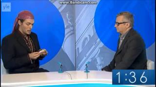 Finnish MP candidate shows his dead gerbil to the interviewer