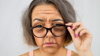 Old Lady Makeup Look - MINI TUTORIAL