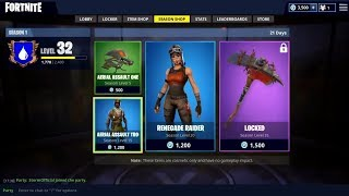 Fortnite When OG Skin Were In The Item Shop(Recon Expert, Ghoul Trooper,Renegade Raider)