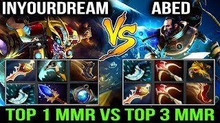 Top-1 MMR vs Top-3 MMR! Inyourdream vs ABED Funny WheelChat Battle