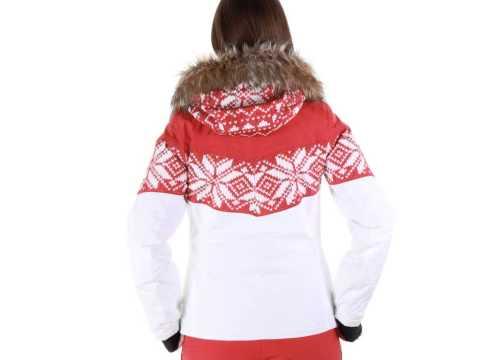 Almrausch Damen Skijacke rot