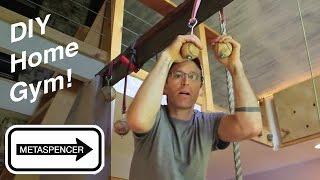 DIY Home Gym Workout Room For Climbing, Crossfit & Gymnastics