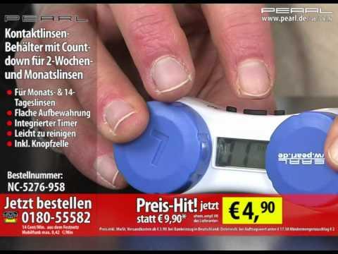Kontaktlinsen-Behälter mit Countdown für 2-Wochen- und Monatslinsen