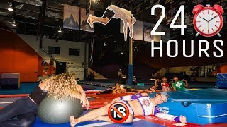 24 HOUR OVERNIGHT CHALLENGE AT GYMNASTICS/CHEER GYM!