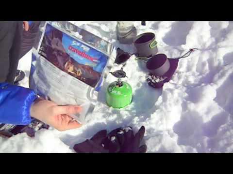 Optimus Crux Lite In Winter Conditions