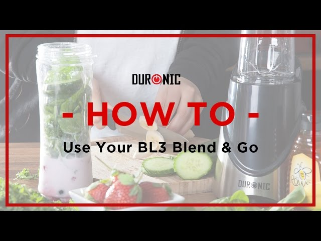 Duronic BL3 Blend and Go | Smoothies | Juices | Protein Shakes | How to Use Your Personal Blender
